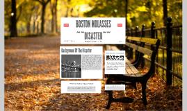 BOSTON MOLASSES DISASTOR