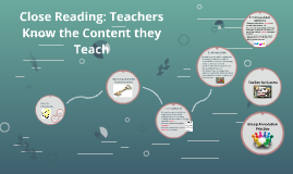 Close Reading: Teachers Know the Content they Teach