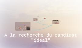 """La recherche du candidat """"idéal"""""""