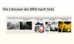 Die Literatur der BRD nach 1945