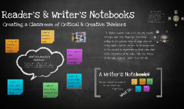 Creating Readers & Writer's Notebooks