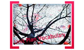 Unit Plan Vocabulary