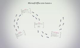 Microsoft Office 2013: Lesson 4