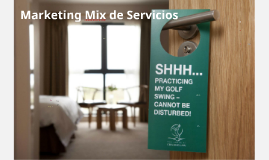 Marketing Mix de Servicios