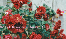 Mental Disorders:Social Anxiety
