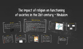 The impact of religion on functioning of society
