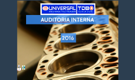 AUDITORIA INTERNA 2016