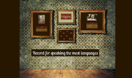 Record for speaking the most languages