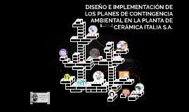 DISEÑO E IMPLEMENTACIÓN DE LOS PLANES DE CONTINGENCIA AMBIEN