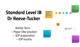Standard Level IB