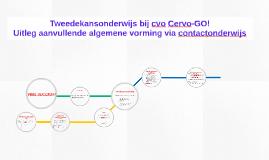 Tweedekansonderwijs cvo Cervo-GO! - aanvullende algemene vorming via contactonderwijs