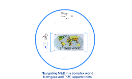 Navigating M&E in a complex world – new gaps and opportunities from R4D practice