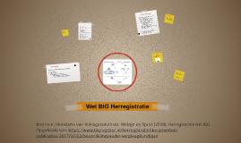 Wet BIG Herregistratie