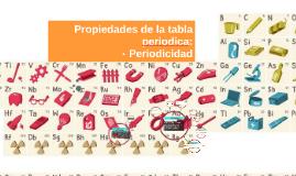 Propiedades de la tabla periodica: