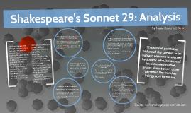 Sonnet 29 analysis essay