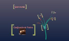 Copy of Clasificación de Postres (Gastronomía)