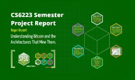 Bitcoin Mining Architectures CS6223 SPSU