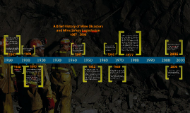 A Brief History of Mine Disasters and Mine Safety Legistlation