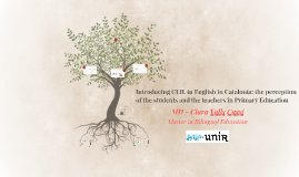 Introducing CLIL in English in Catalonia: the perception of