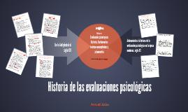 Historia de las evaluaciones psicológicas