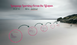 Language Learning Lifespan