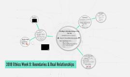 2018 Ethics Wk 9: Boundaries & Dual Relationships