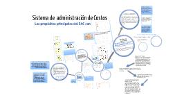 sistema de administracion de costos