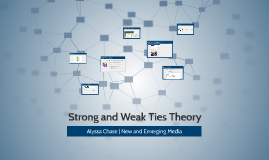 Strong and Weak Ties Theory
