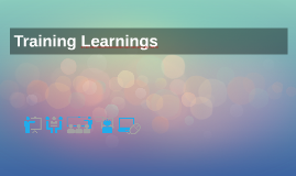 Training Learnings
