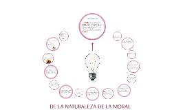 De la naturaleza de la moral