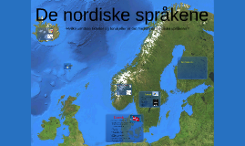 De nordiske språkene