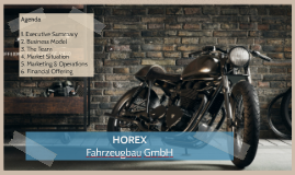 FOM - MBA Business Plan: Horex
