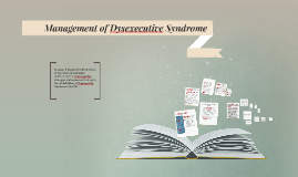 Management of Dysexecutive Syndrome