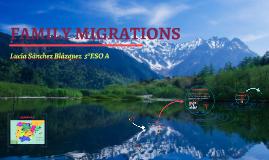 Family migrations- Lucía Sánchez