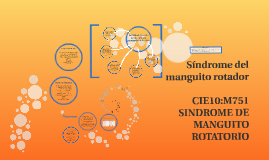 síndrome del manguito rotador