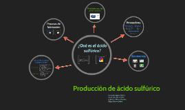 Producción de ácido sulfúrico