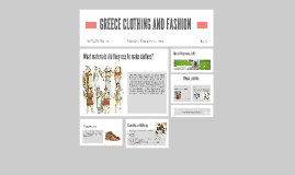GREECE CLOTHING AND FASHION
