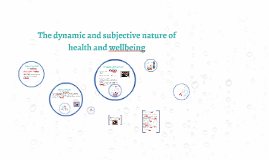 Copy of The dynamic and subjective nature of health and wellbeing