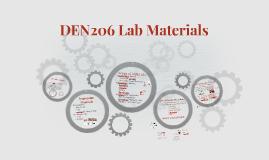 DEN206 Lab Materials