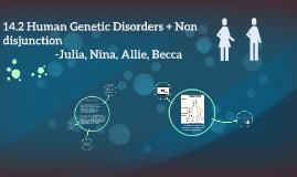 14.2 Human Genetic Disorders