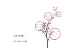 Turandot: Synopsis of Act I