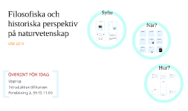 NTH001 Höst 2016 Vetenskapsteori