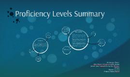 Proficiency Levels Summary