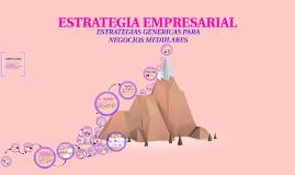 OFICIAL - ESTRATEGIAS GENÉRICAS PARA NEGOCIOS MEDULARES