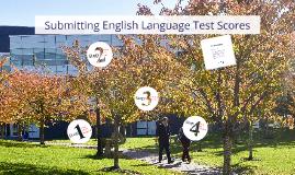 Submitting English Language Test Scores