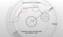 CONSEJO EVALUACIÓN AÑO ACADÉMICO 2013