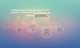 Trabajo Final: Caso Mariana Joselín Baltierra, feminicidio e