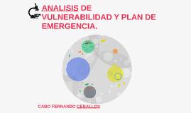 ANALISIS DE BULNERABILIDAD Y PLAN DE EVACUACION