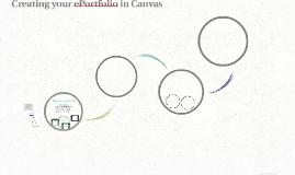 Creating your ePortfolio in Canvas