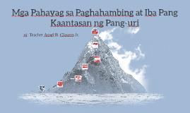 Copy of Mga Pahayag sa Paghahambing at Iba Pang Kaantasan ng Pang-ur